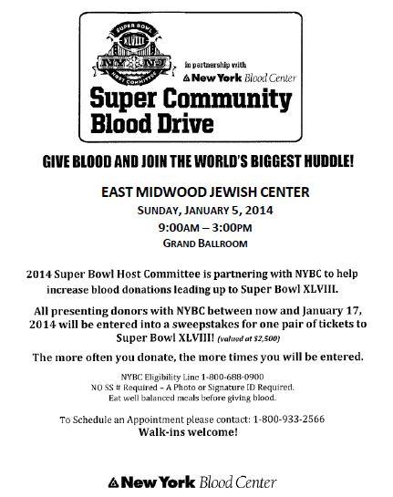 2014 EMJC Blood Drive