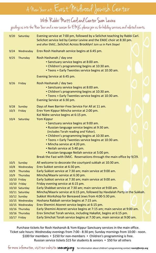 HH Schedule Final