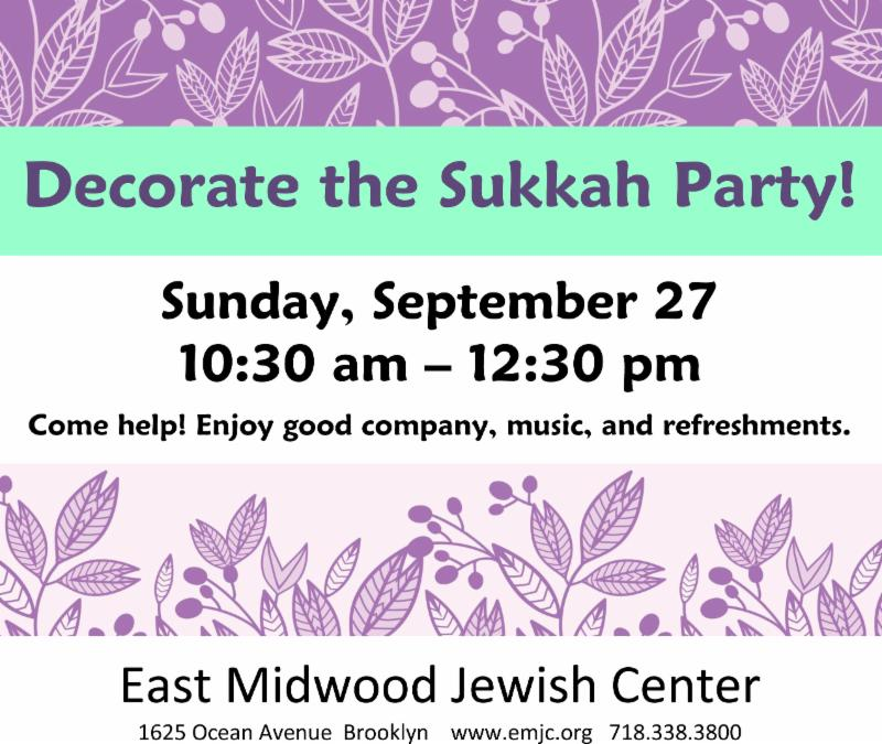 Decorate the Sukkah party