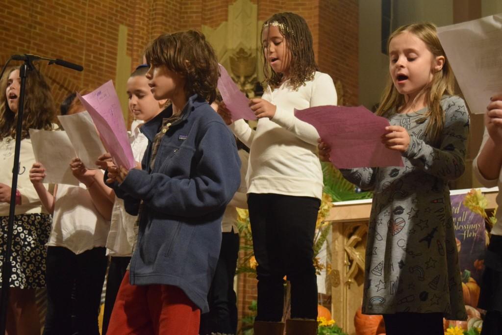 kids singing in church